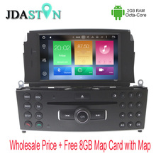 JDASTON 1DIN Octa Core 2GB Android 6.zero Automobile DVD Participant For Mercedes Benz C200 C180 W204 2007-2010 radio Multimedia GPS Navigation