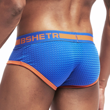 BSHETR Brand Men Underwear Sexy Mesh Qucik-Dry Briefs Boxer Shorts Breathable Slip Cueca Underpants Gay Male Panties
