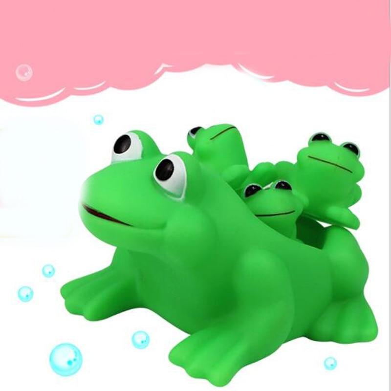 1 Set Lovely Creative 3D Plastic Cartoon Frog Bath Educational Toys ...