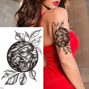 Bocetos Diseños de Tatuajes tigre negro Pantera manga tatuaje diseños para hombres mujeres removedor tatuaje sexy pegatinas de tatuaje para cuerpo agua