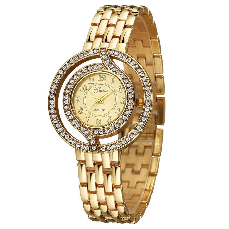Women set Watch Luxury brand Rhinestone Crystal Diamond Watches Female Quartz Wristwatches Lady Dress Watch relogio feminino in Women 39 s Watches from Watches