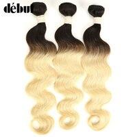 Debut Body Wave Ombre Human Hair Bundles 1/3/4 Pieces Brazilian Hair Weave Bundles Remy Hair Extension 1B/613 Free Shipping