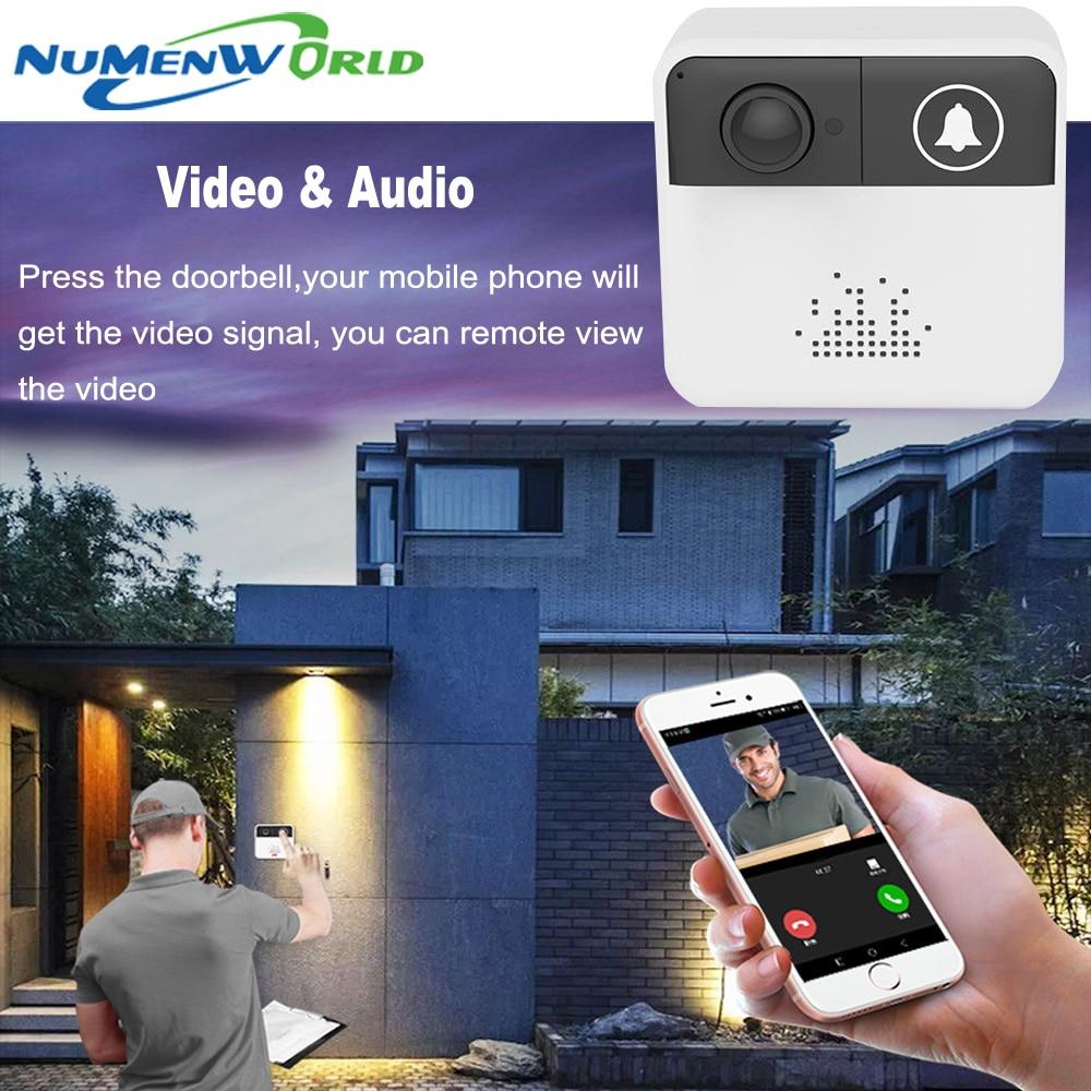 NuMenWorld Mini Wireless WiFi Video Doorbell Camera Two Way Audio APP  Control IP Ring Door bell Alarm Battery Operation