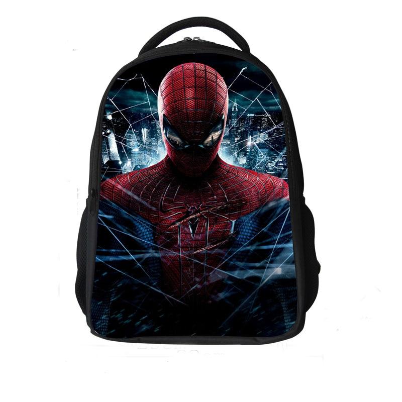 Free Shipping! cool new child schoolbag for boy and girls cartoon <font><b>Amazing</b></font> <font><b>Spider</b></font> <font><b>Man</b></font> backpack bags for kids, double zipper