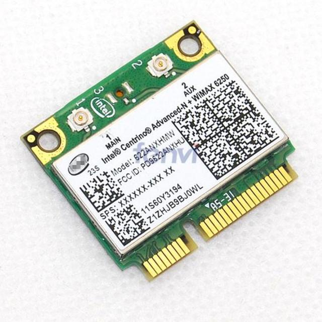 Novo notebook de 300 mbps wlan wi-fi sem fio mini pci-e cartão para ibm/lenovo/thinkpad wimax intel avançado-n 6250 anx fru 60y3195