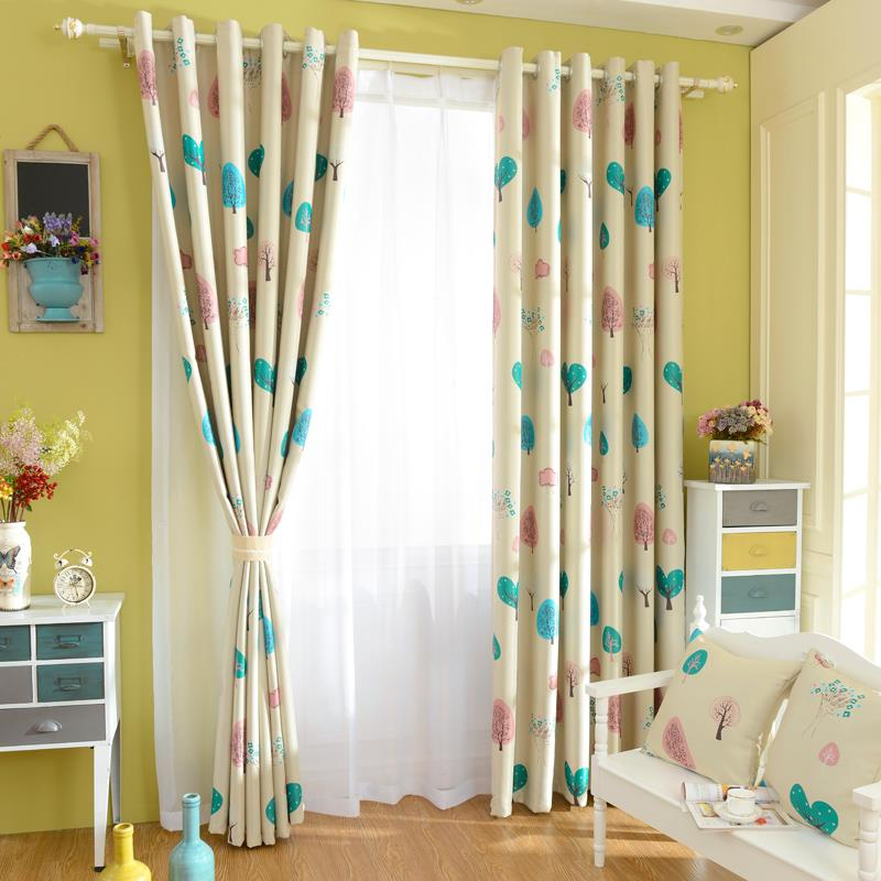 kids window treatments turquoise 2015 new modern children blackout curtains for kids bedroom living room window treatments shade panels drapes and blindsin from home garden on
