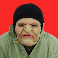 New Old Woman Latex Mask Halloween Figure Dance Party Mask Masquerade Masks Clown Realistic Joker Silicone