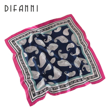 fashion women's silk square scarves new arrival 2017 Autumn and Winter casual wraps echarpe square silk feeling scarf ladies