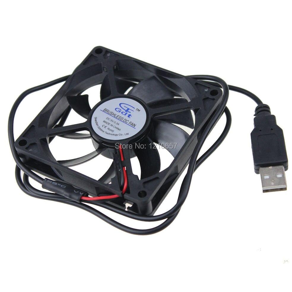 10PCS LOT GDT 80mm 80 x 80 x 15mm 8015s 5V Cooling Cooler DC Fan