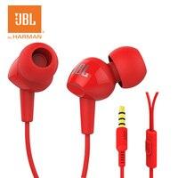 JBL C100SI In Ear Bass Earplugs Mobile Phone Wire Movement With Mic Original Earphone 3 5mm