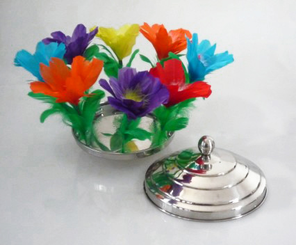 Flower From Fire Pan Stage Magic Magic Trick Gimmick Props