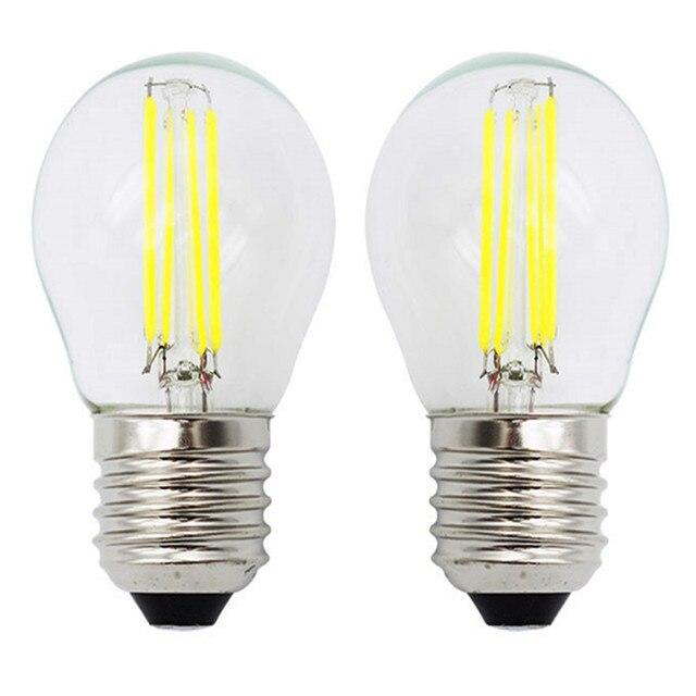 1pcs E27 LED Filament Lamp 110V 120V 60Hz G45 Edison Dimmable Bulb Replace 4W 8W 12W 16W Compact Fluorescent Light Chandelier