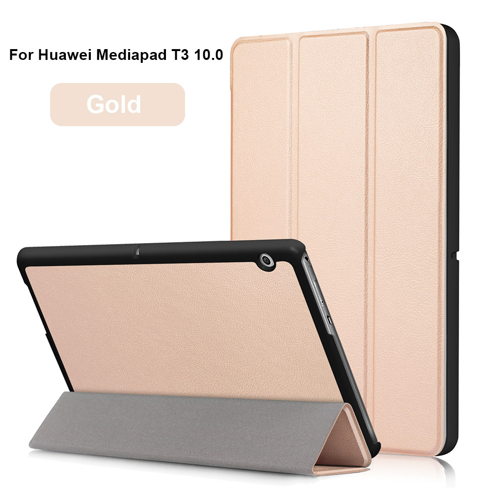For Huawei MediaPad T3 10.0 case Ultra Slim Lightweight PU Leather Folio Case Stand Cover for Huawei MediaPad T3 10.0 tablet megoo case cover sleeve for huawei mediapad m3 8 4 ultra slim lightweight folio stand 8 4inch