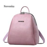 Nevenka New Arrival Women Backpack Lady Backpack PU Leather Brand Bag Zipper Bags Fresh ShoulderBag Softback
