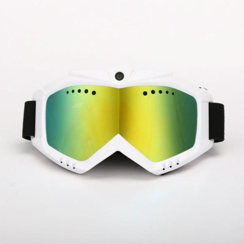 HD 1080 p Macchina Fotografica con Sci-Occhiali Da Sole Occhiali di Protezione con Colorato Anti-Fog Lente di protezione per lo Sci o Lente Trasparente per Moto Trasporto Libero