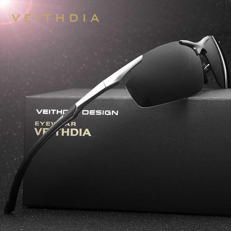 6c2a42fb33 VEITHDIA Brand Men's Aluminum Magnesium Sun Glasses Polarized UV400 Sun  Glasses oculos Male Eyewear Sunglasses For