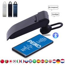 Peiko Translate Earphone Smart Voice translation 25 Languages instant Translate Headset Wireless Bluetooth Headphone translator xiaomi moyu ai translator 14 language 7 days standby 8h continuous translate microsoft translation engine for smart mi travel