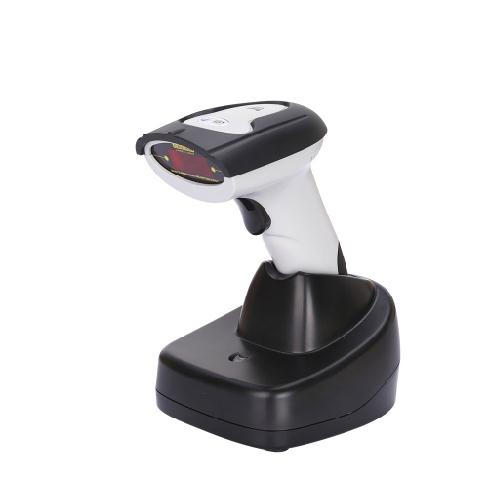 Wireless Laser Barcode Scanner Label Reader with Charger Base Handheld Barcode Scanning for Supermarket Shop acan 9800 usb laser handheld barcode scanner reader for desktop laptop 2m cable