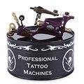 Nueva Llegada Púrpura Motor Rotatorio de La Ametralladora del Tatuaje Del Arte de Cuerpo de Aleación trazador de líneas de Shader 3-10 V 9000 ronda/minuto con Caja