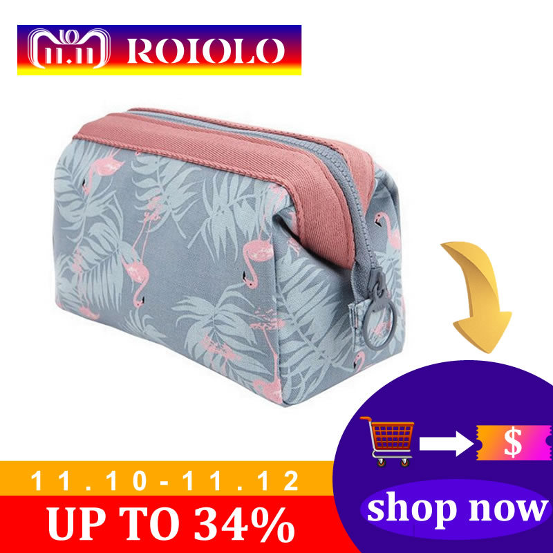 купить New Arrive Flamingo Cosmetic Bag Women Necessaire Make Up Bag Travel Waterproof Portable Makeup Bag Toiletry Kits недорого