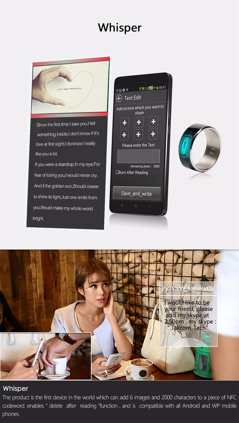 Jakcom R3F Smart Ring For High Speed NFC Electronics Phone Smart Accessories 3-proof App Enabled Wearable Technology Magic Ring 13