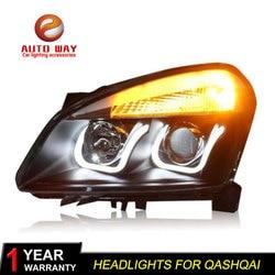 Car Styling Head Lamp case for Nissan Qashqai 2008-12 Headlights LED Headlight DRL Lens Double Beam Bi-Xenon HID car Accessories