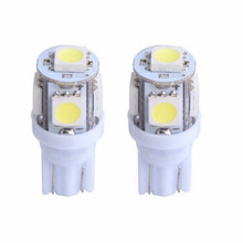 JURUS New 10Pcs Signal Lamp T10 Led W5W 194 168 Car lights Bulb For Auto Cars White Red 5W5 Clearance Backup Reverse Light 12V