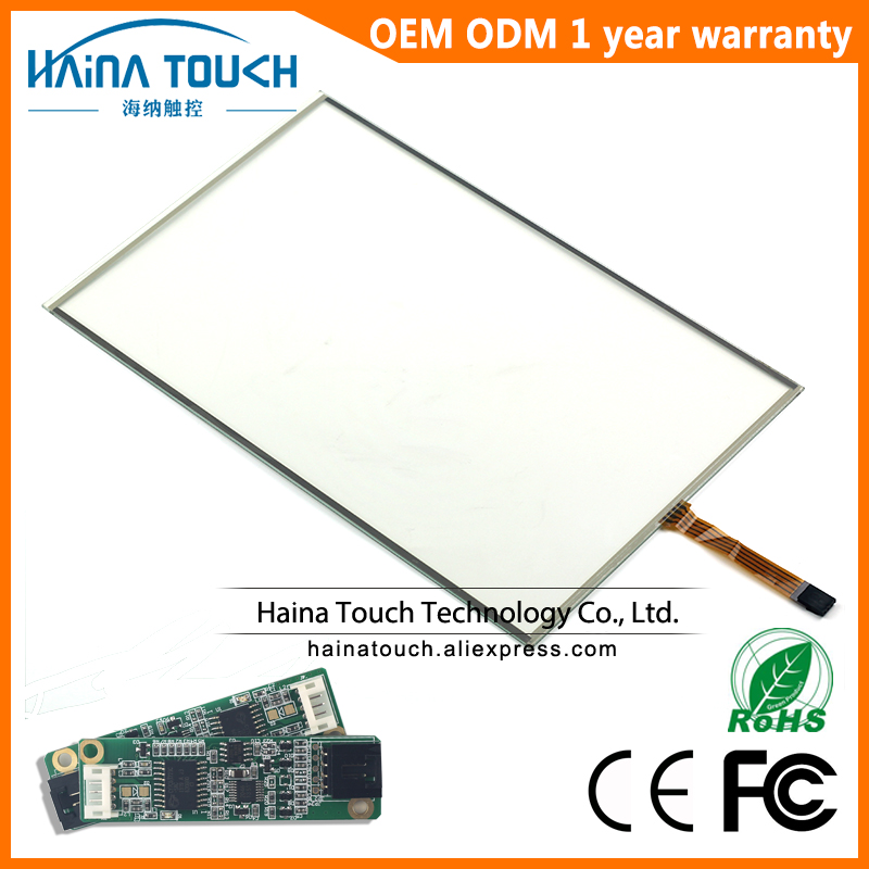 Win10 Compatible 15.4 inch 4 wire resistive USB touch screen panel overlay kit, monitor touch screen 15.4 with USB controller amt 146 115 4 wire resistive touch screen ito 6 4 touch 4 line board touch glass amt9525 wide temperature touch screen