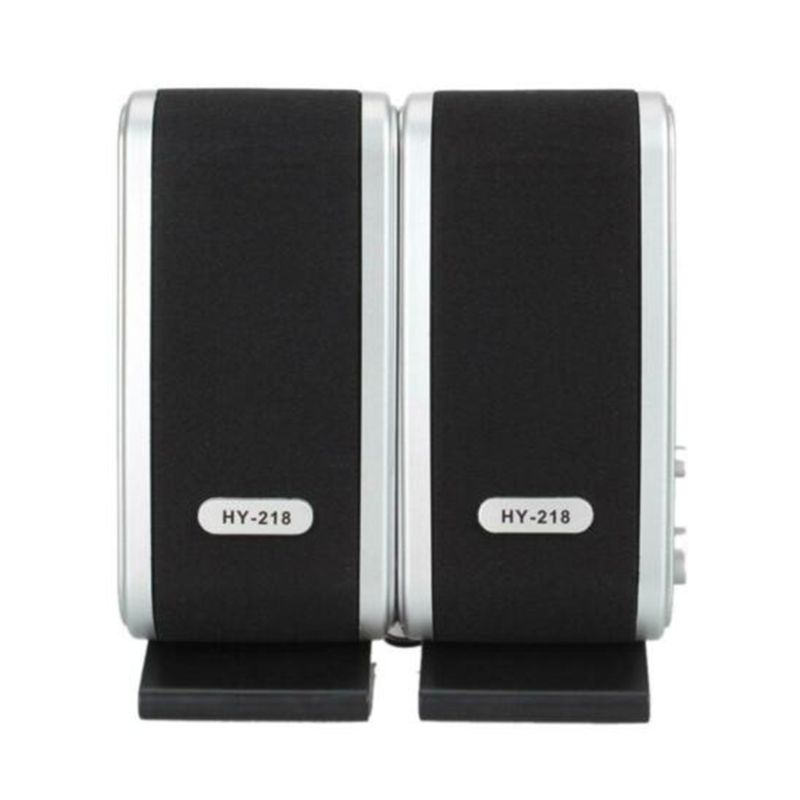 1Pair USB 2.0 HY-218 Mini Portable Laptop Computer Speakers for Desktop PC Notebook Headphone Microphone Accessories