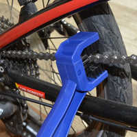 Bicycle big brush chain cleaning brush sprocket wheel chain cleaning equipment three sides large brush bicycle repair tools