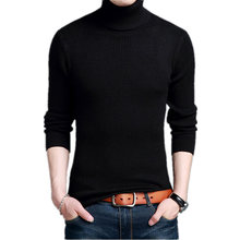 Pure Color Men's Turtleneck Sweater Winter Cashmere Wool Sweater Knitted Pullover Casual Male Jumper 4XL Turtleneck Sweater Men
