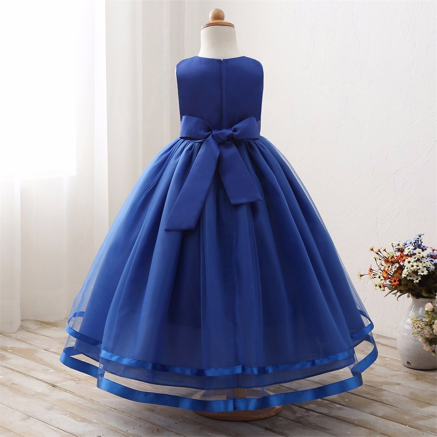 Maxi Summer Kids Wedding Dresses For Girls Designs Long Evening Party Bridesmaid Formal Robe Fille Little Children Clothing 18 20