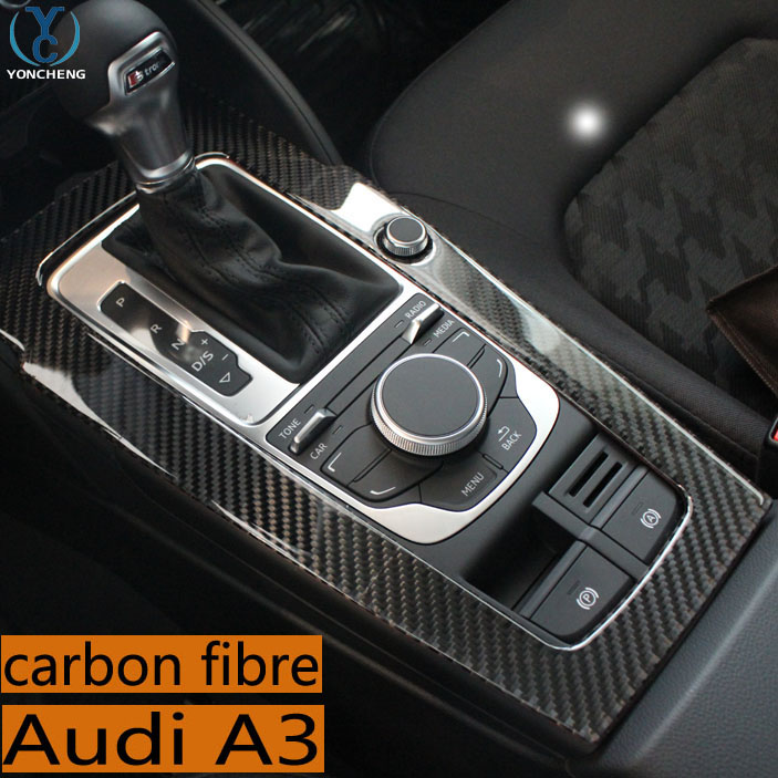 For Audi A3 Special Modified Carbon Fiber In The Control Gears Decorative Frame Interior Trim