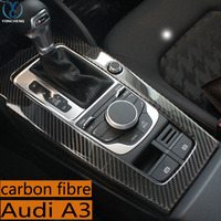 For Audi A3 special modified carbon fiber in the control gears decorative frame interior trim patch Audi A3 modified