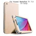 Suporte dobrável leather flip case para huawei t1-701u case tablet tampa do pc para huawei t1 7.0 t1-701u case + tela protetor