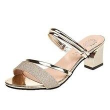 Summer Women Sandals Bling Women Pumps Women Shoes Comfort Ladies Shoes Woman Sandalie Gold Silver High Heels Female Footwear