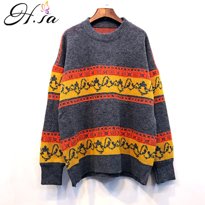 67a40d64387d09 Detail Feedback Questions about HSA Women Vintage Sweater Jumpers 2018  Thick Warm Pullover Sweaters Casual Couple Sweater Pullovers Oversized  Christmas ...