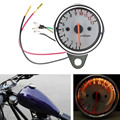 Universal Dual Odometer Speedometer + 13000RPM Tachometer Tacho Gauge Motorcycle With LED Light Backlight 12V Instruments
