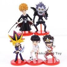Dessin animé Kurosaki Ichigo Ryuk Saint Seiya Ozora Tsubasa Yugi Muto PVC figurines jouets 5 pièces/ensemble