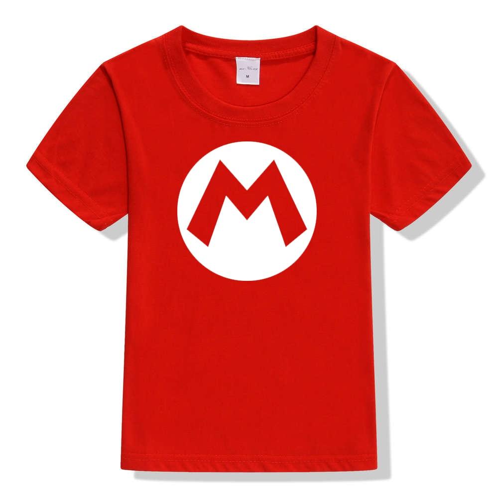 d7d5207e9 2pcs/lot Super Mario Bros. Kids Cosplay T Shirts Luigi/Wario/Princess Peach/ Waluigi/Mario Boys Girls Summer Clothes T shirt Tops-in T-Shirts from  Mother ...