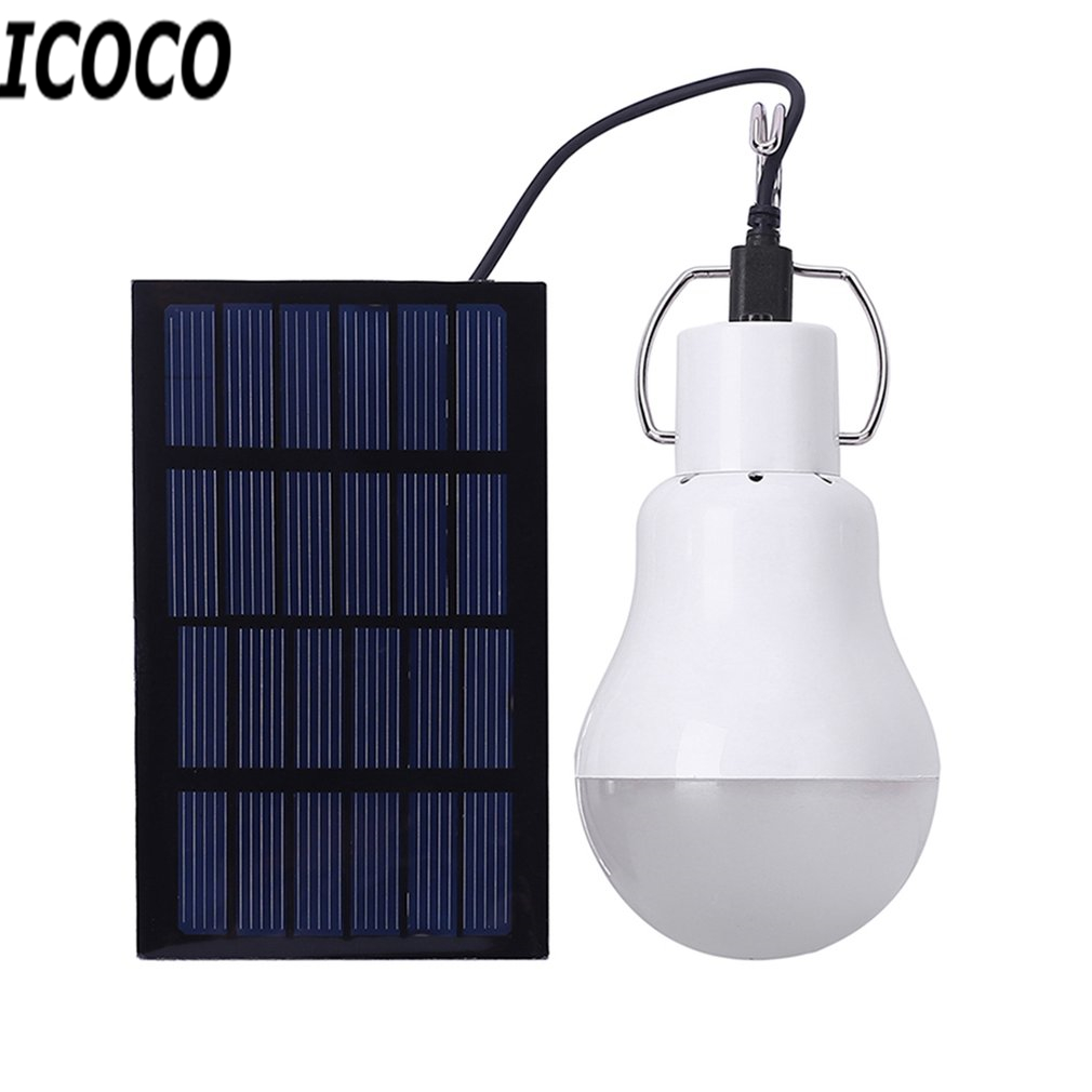ICOCO Portable Solar Powered LED Street Lamp Light with High Temperature & Shatter Resistance for Housing Outdoor Emergency