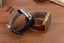 Abay W90 Smartwatch Bluetooth Relógio Inteligente Relógio de Couro de Negócios em Tela Cheia HD Vista Sono Monitor de Suporte do Cartão SIM Para IOS Android