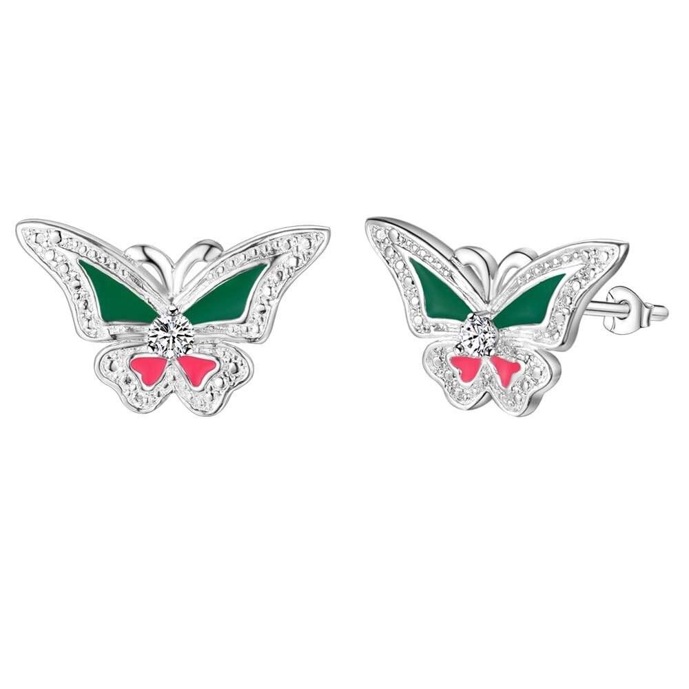 NºNueva llegada declaración animal mariposa esterlina-plata-joyería ...