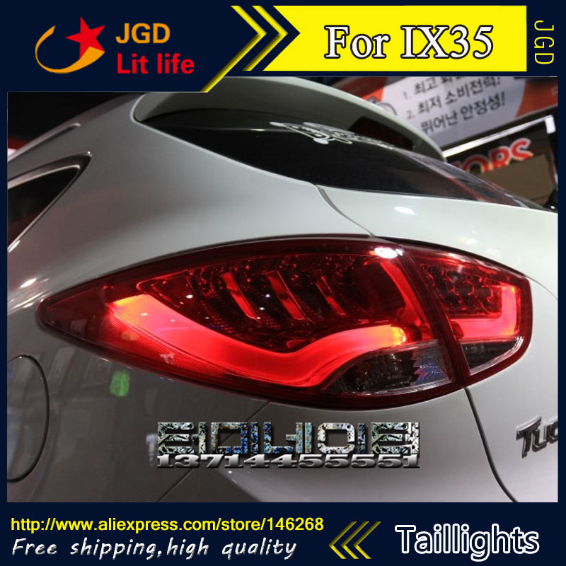 Car Styling tail lights for Hyundai ix35 2010-2013 LED Tail Lamp rear trunk lamp cover drl+signal+brake+reverse car styling tail lights for hyundai santa fe 2007 2013 taillights led tail lamp rear trunk lamp cover drl signal brake reverse