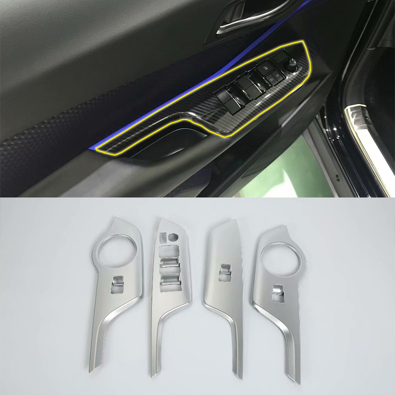 ABS Interior Car window rises cover 4pcs Styling For TOYOTA CH-R 2018