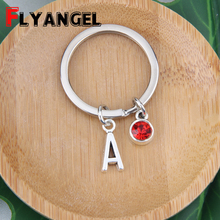 A-Z Initials Letters Keychain Personality Creative Key Chain Car Birthstone Key Rings for Women Men Birthday Gifts Keychain
