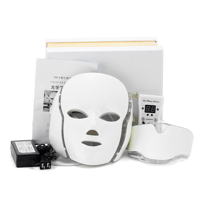 7 Color LED Facial Mask With Micro-current Function skin whitening device beauty apparatus7 Color LED Facial Mask With Micro-current Function skin whitening device beauty apparatus