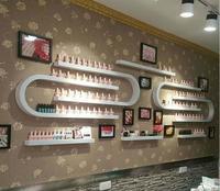 Nail salon nail polish rack display rack wall hanging rack u shaped nail polish rack