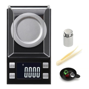 50g 0 001g electronic scales led luminous high precision digital jewelry medicinal herbs scale mini lab weight kitchen scale NEW 100g/50g 0.001g Digital precision scale for Jewelry gold Herb Lab Weight Milligram Scale Electronic Balance accurate scale
