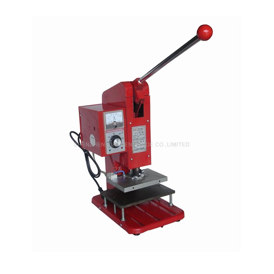 Manual Adjustable Hot Foil Embossing Stamping Machine Tipper Machine Heat Press Stamping Machine Pressing Logo Mini 150